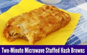 Two-Minute Microwave Stuffed Hash Browns