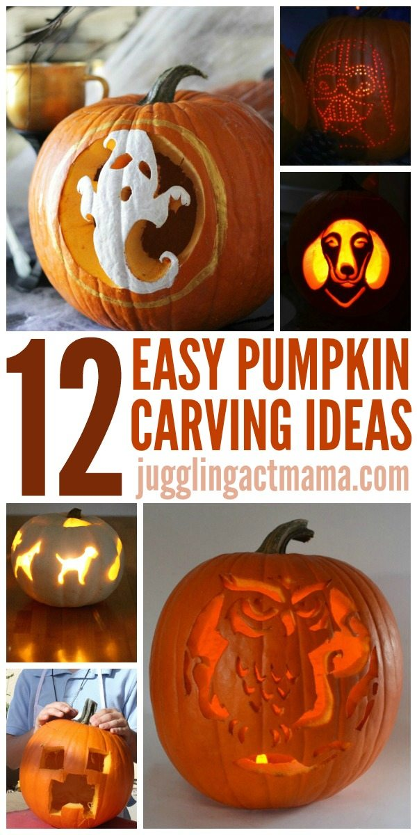 Pumpkin carving season is finally here! But if you're a klutz with a knife (like me), you'll appreciate these super easy pumpkin carving tutorials. You'll keep your fingers intact and have a beautiful display for your porch at the same time. Win-win!