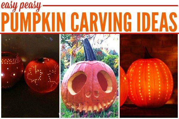 Easy Peasy Pumpkin Carving Ideas