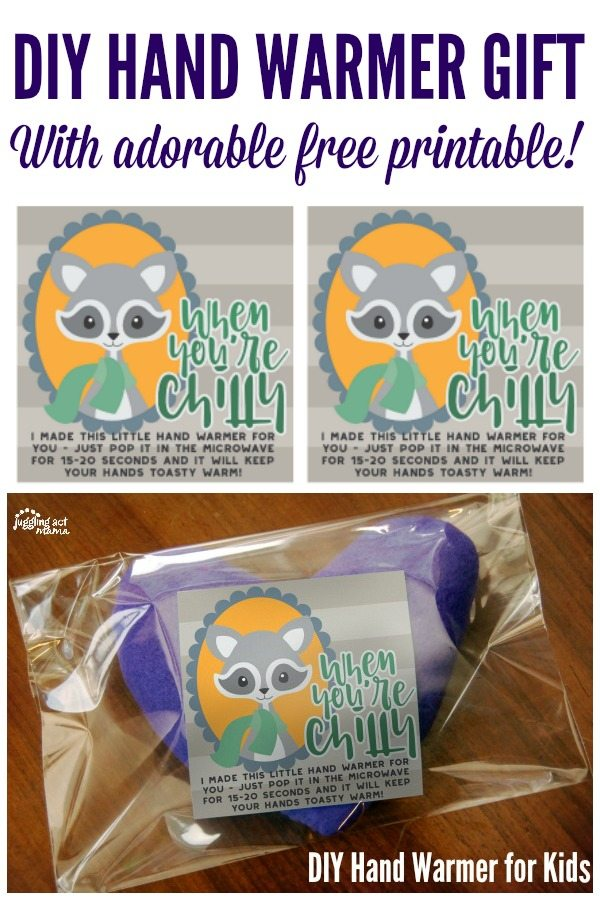 DIY Hand Warmer Gift with Adorable Free Printable