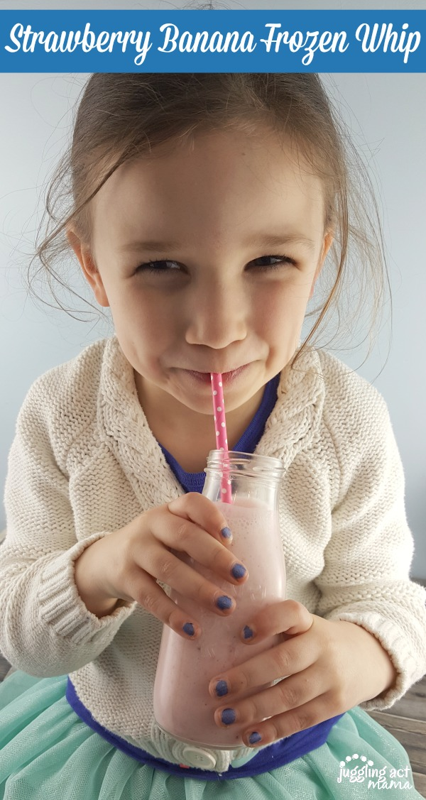 Olivia loves these Strawberry Banana Frozen Whip drinks #ad