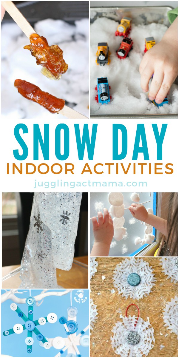 Get rid of the boredom bug with these fun snow day indoor activities.