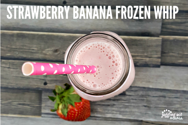 Strawberry Banana Frozen Whip #ad #StonyfieldBlogger