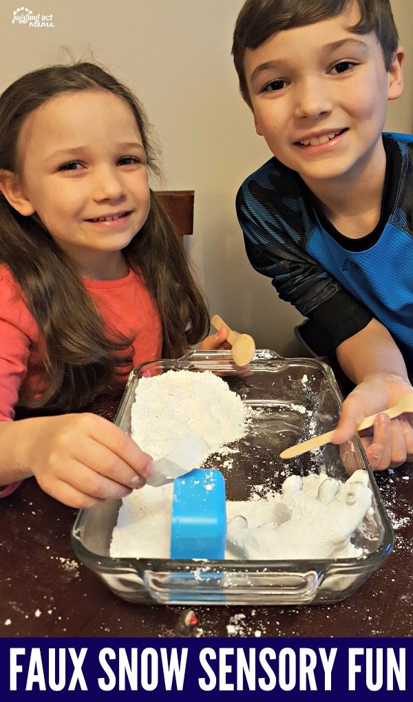 super easy and fun faux snow with just 3 ingredients