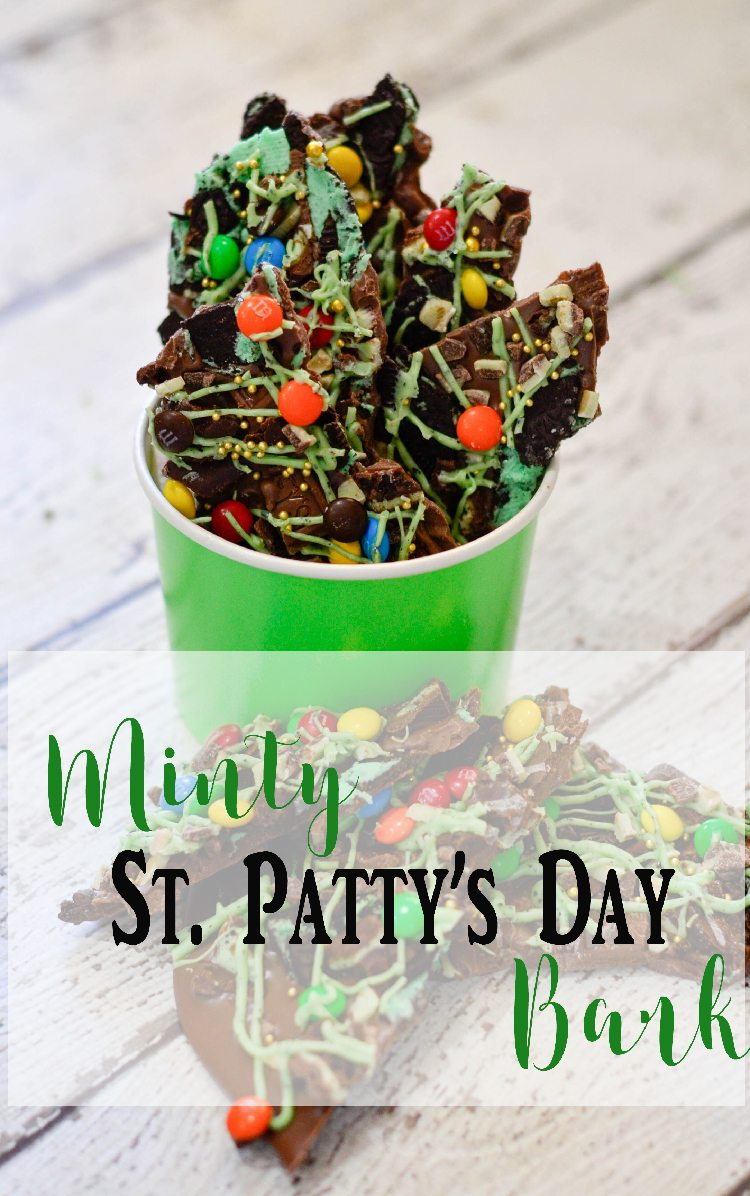 easy and delicious Minty St Patrick's Day Chocolate Bark