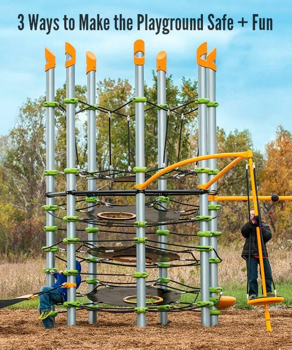 3 Ways to Make the Playground Safe + Fun #ad