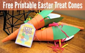 Printable Easter Treat Cones