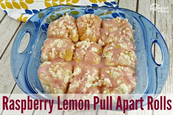 Raspberry Lemon Pull Aparts with Rhodes Bread #ad #FrozenDough